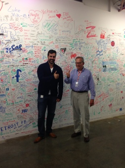 Facebook's Lee McCabe and Jake Steinman after the interview